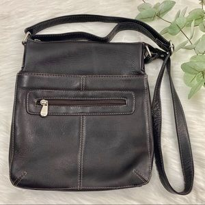 Le Donne Brown Leather Crossbody Bag